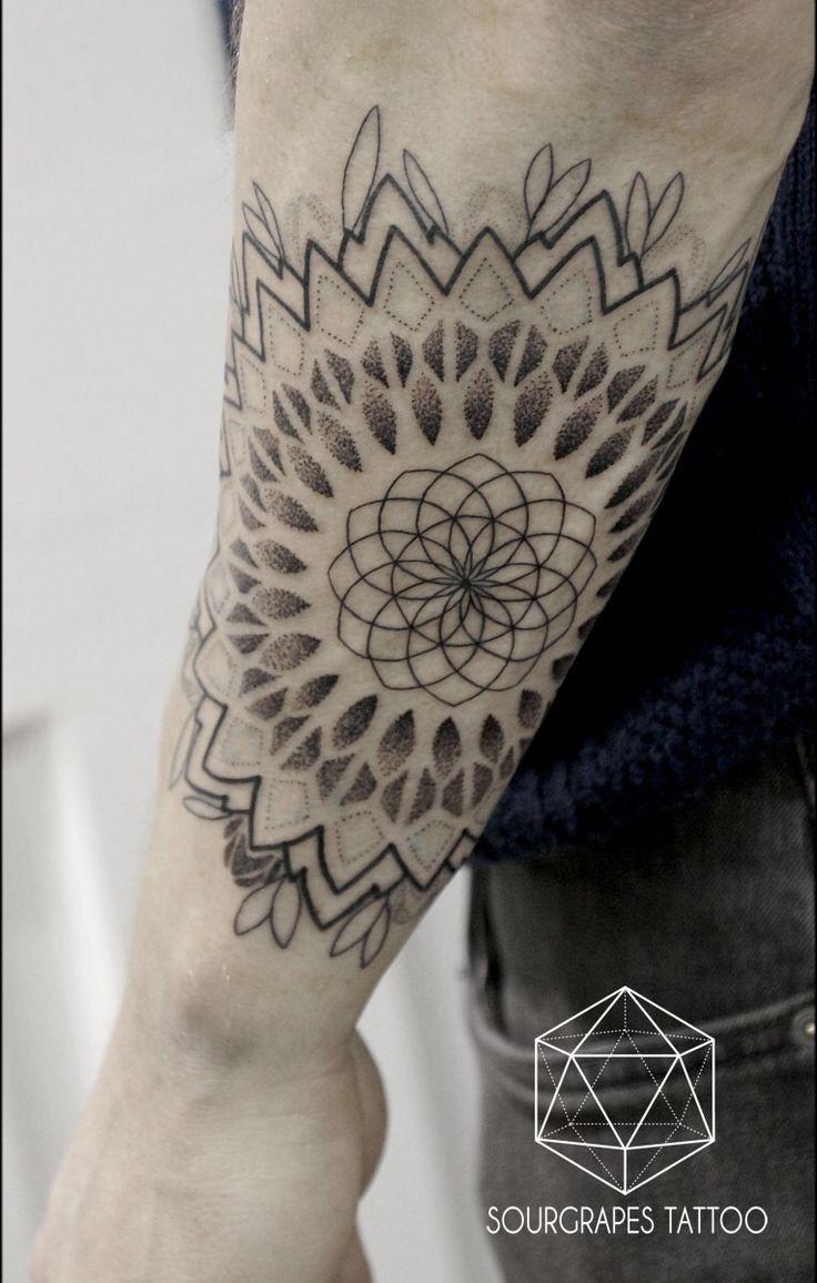 GEOMETRIC MANDALA TATTOO 13.22 Tattoo Studio // London //02074610433 // www.1322tattoo.uk
