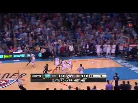 Stephen Curry game winner vs  Oklahoma City Thunder 28/feb/2016