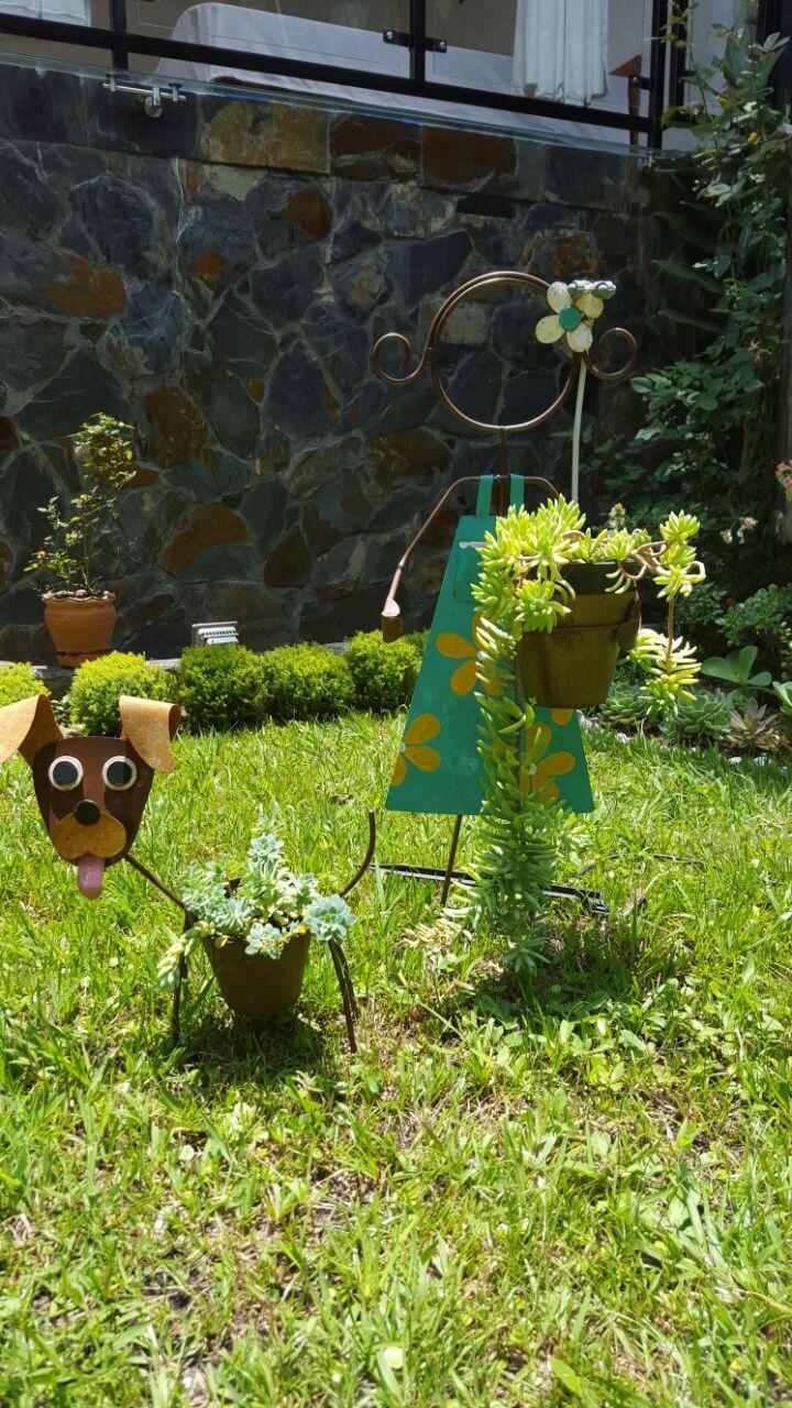 Decoraciones para nuestro jardín con suculentas