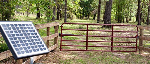 Zzz Ghost Controls TSS1XP Heavy-Duty Solar Single Automatic Gate Opener Kit for Swing Gates Up to 20 Feet (ft.)