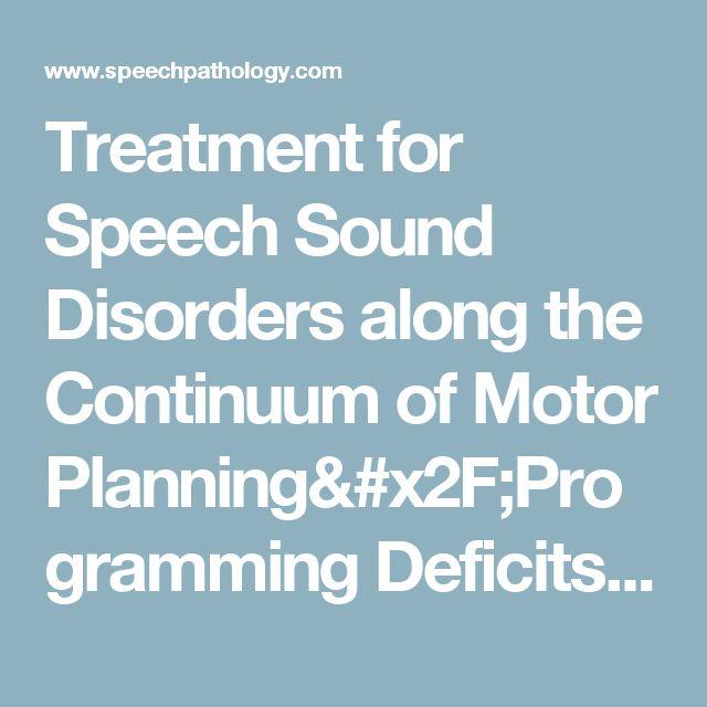 88 best continuing ed images on pinterest speech for Motor planning disorder symptoms