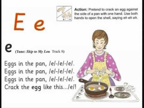 JOLLY PHONICS e song from Read Australia - Having FUN with phonics