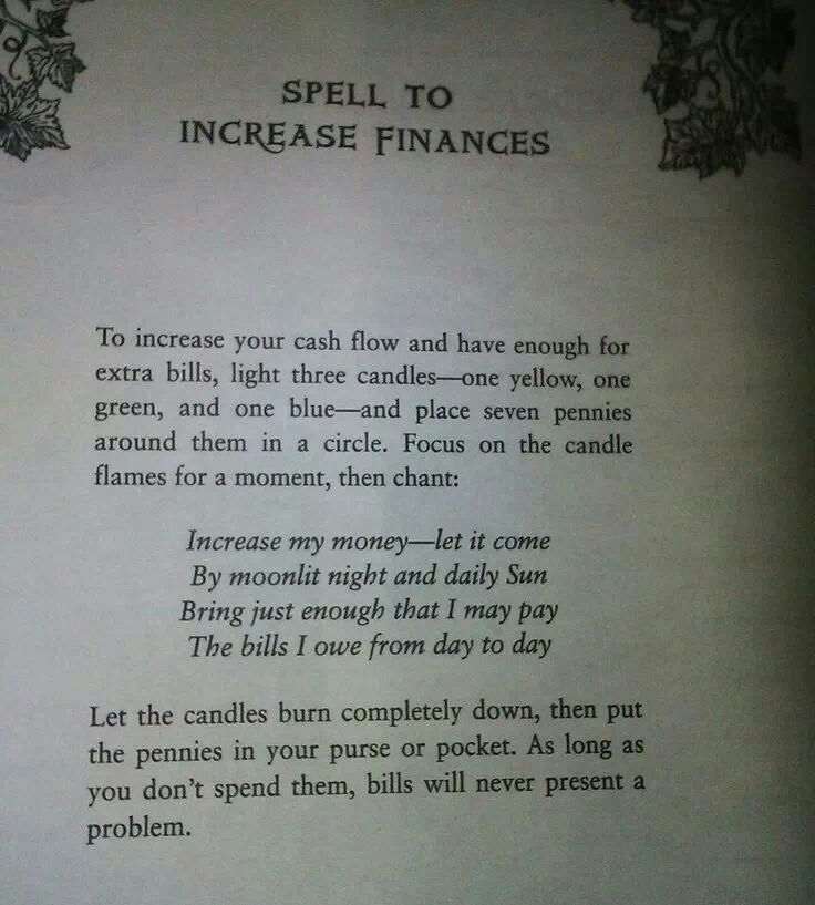Spell To Increase Finances Money Spells Pinterest