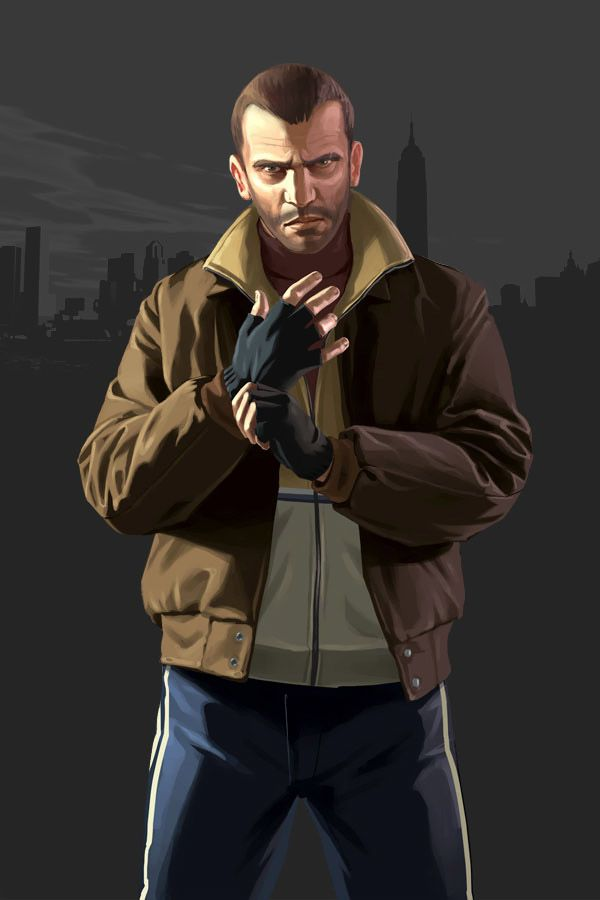 Grand Theft Auto IV Art & Pictures,  Niko Bellic