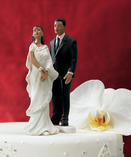 Contemporary Indian Bride and Groom Mix & Match Cake Toppers - BLACK TIE GIFTS AND ACCESSORIES