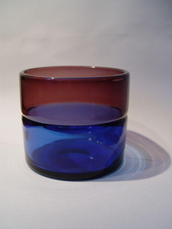 Arne Jon Jutrem Hadeland vase dated 1958.