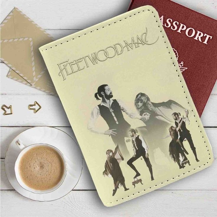 Fleetwood Mac Leather Passport Wallet Case Cover