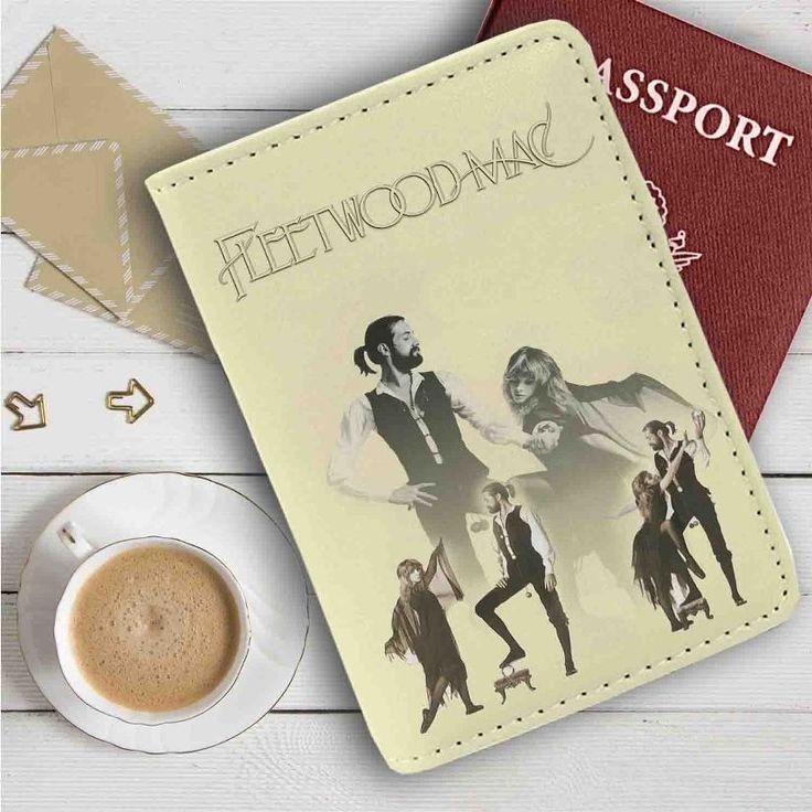 Fleetwood Mac Leather Passport Wallet Case Cover