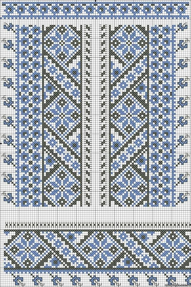 Ukrainian cross stitch pattern for men's shirts