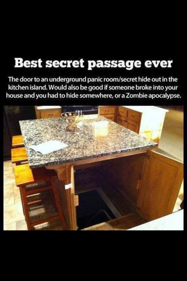 I always wanted a secret passage in my house