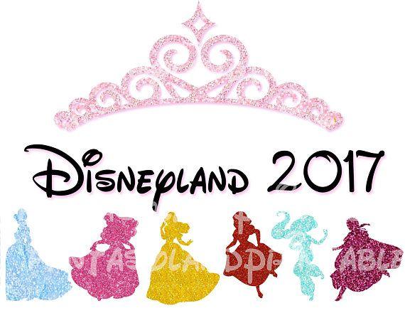INSTANT DOWNLOAD Glitter Princess Disneyland Marathon Run