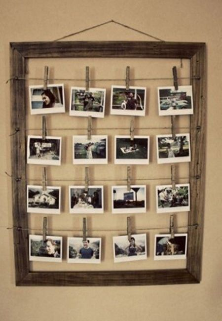Space-saver picture frame DIY