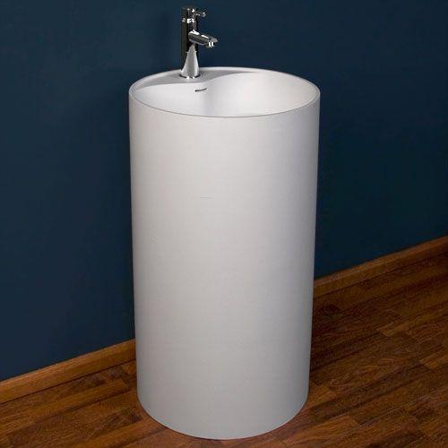 Resin Bathroom Sinks : Tayen Resin Pedestal Sink Bathroom Sinks Pinterest