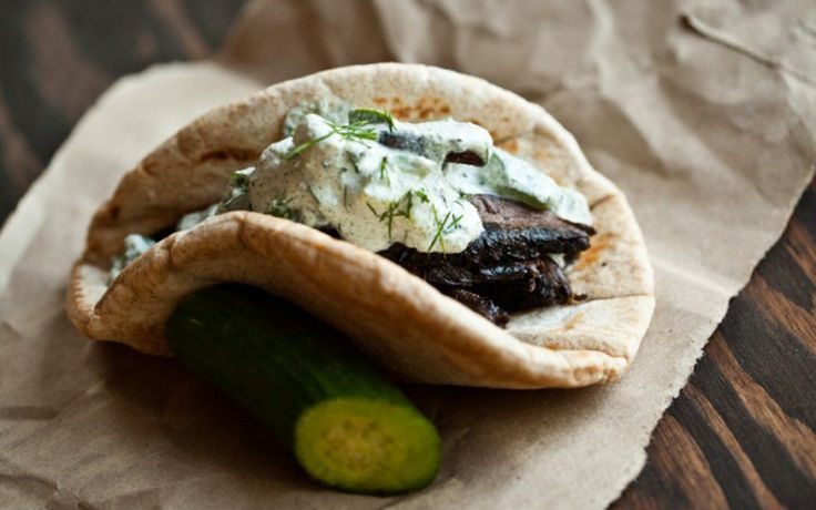 <p>These gyros with raw tzatziki allow you to enjoy the delicious flavors of Greek cuisine, no meat or dairy required. </p>