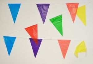 Amazon.com : 100 Foot Multicolor Pennant Banner : Childrens Party Decorations : Toys & Games