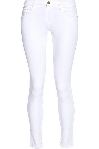 FRAME - Le Skinny De Jeanne Crop Mid-rise Jeans - White -