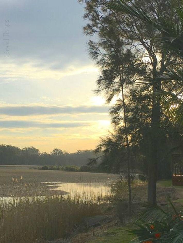 Sunset on the Crooked River, Gerroa NSW - Liz Posmyk Good Things