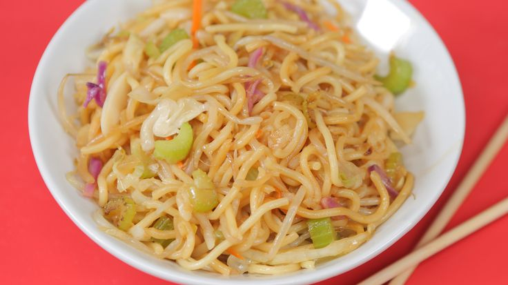 You can make this Panda Express menu favorite at home in less time than it'd take you to load in the car and hit the drive thru. Even better, you can customize our copycat chow mein easily by adding in any favorite veggies you have on hand. If you want to bulk this easy noodle dish into an entree, add your protein of choice—leftover chicken, shrimp, or a freshly fried egg would all make great additions (and they won't cost extra).