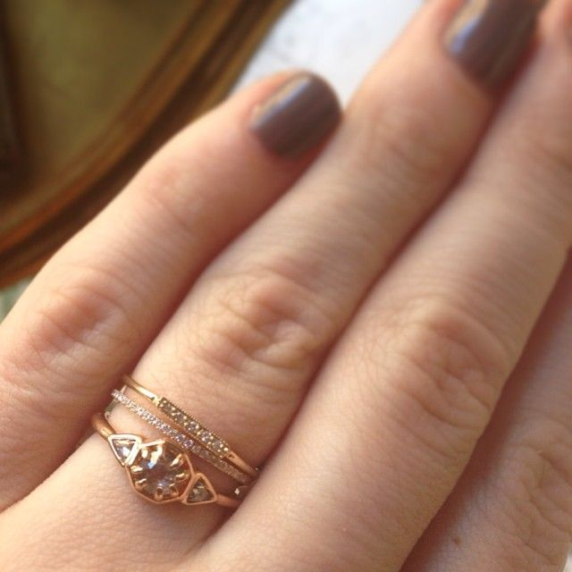 Diamond stacking, rings available at www.catbirdnyc.com. <3