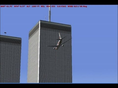 New Video Of First Plane Hit 911 9/11 9 11 terrorist attack on Twin Towers Word Trade Center