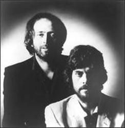 """Eric Woolfson and Alan Parsons of The Alan Parsons Project.   Alan Parsons, a master musician and sound-engineer, participated in engineering albums such as The Beatle's """"Let it Be"""" and """"Abbey Road"""", and Pink Floyd's """"Atom Heart Mother"""" and """"The Dark Side of the Moon"""". Eric Woolfson, master vocalist and songwriter."""