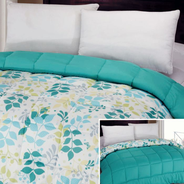 Just+indulging+in+some+home+design+porn:+One+Piece+Printed+Reversible+Comforter+in+Aqua/Green+Leaf+from+Lookboard.+The+sun+never+sets+on+a+style+maven.+Why+would+your+bedding+pale+in+comparison+to+your+daytime+ensemble?+These+comforters+sheet+sets,+and+shower+curtains+are+certainly+not+for+the+faint+of+heart.+Go+ahead+and+express+yourself.
