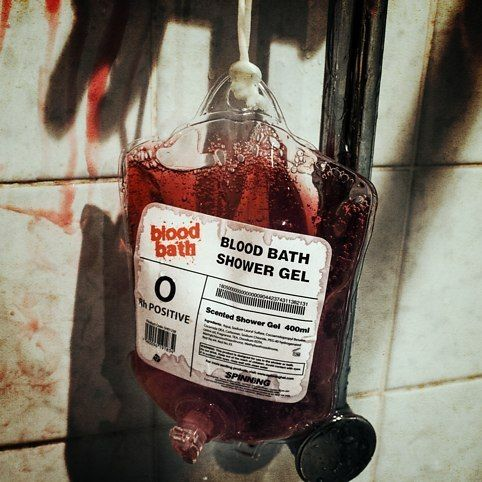 Turn your bathtime into a real horror-show with Blood Bath Shower Gel.