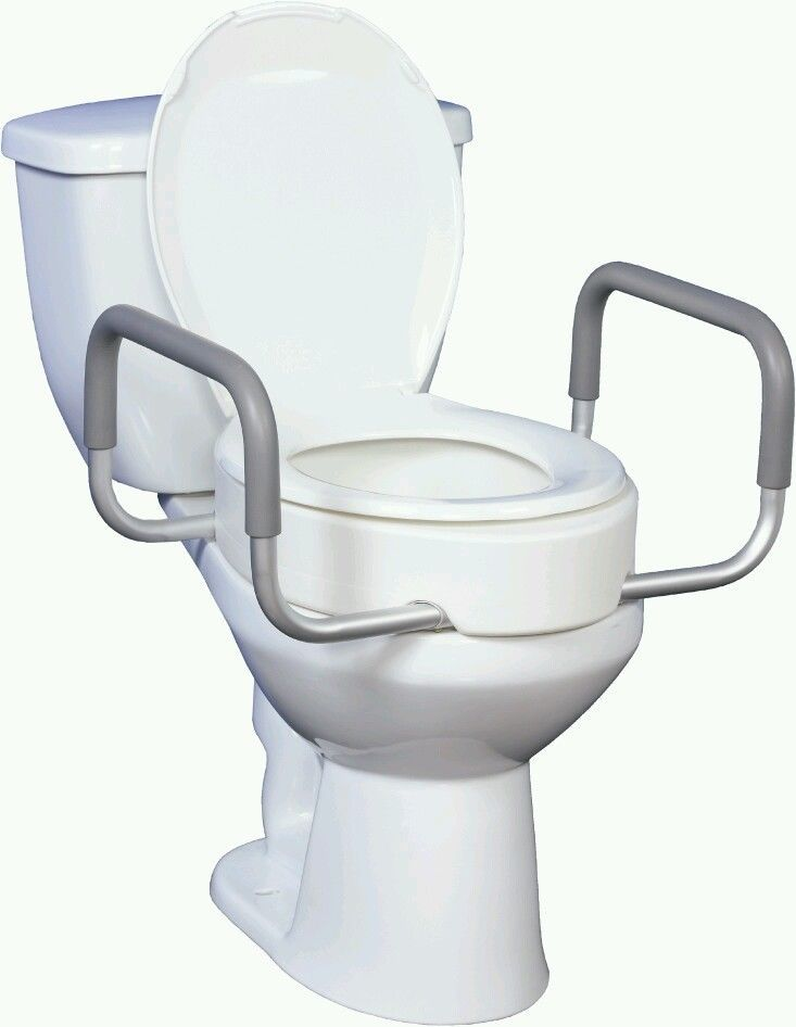 Removable Toilet Seat Riser Arms Handles Hospice Elderly