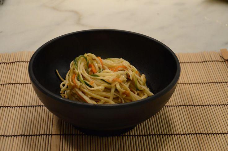 Receta japonesa: Udon con Shiitakes y verduras