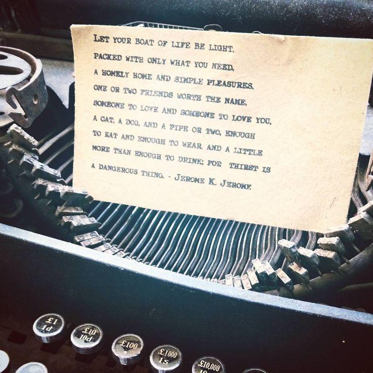 On my #typewriter #typewriterpoetry little things in my home.