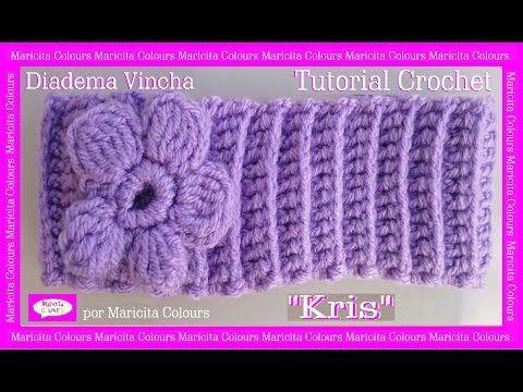 """Vincha a Crochet Diadema """"Ykita"""" Tutorial por Maricita Colours Subtitles English & Deutsch - YouTube"""