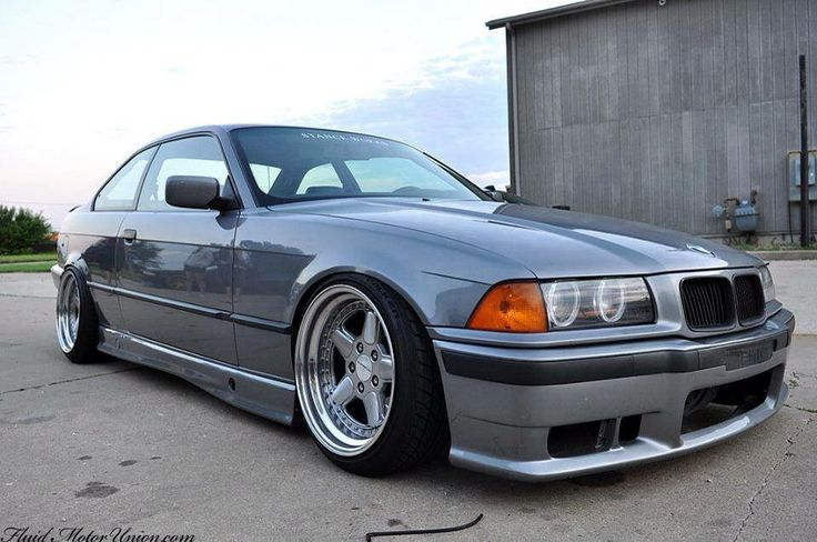 BMW E36 3 series grey deep dish slammed