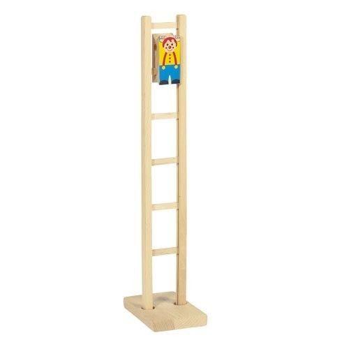 PAYASO CLIMBI EN ESCALERA Otro precioso y nostálgico juguete de madera. Este payaso tan gracioso va bajando la escalera haciendo piruetas. Gusta a niños y a mayores, éxito seguro para regalo, por su sencillez pero a la vez, su originalidad. Medidas aproximadas: altura 40 cm Materiales: Madera Edad recomendada: A partir de 3 años  http://www.babycaprichos.com/payaso-climbi-en-escalera.html