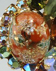 """Identifying Stones Used in Vintage Costume Jewelry: """"Easter Egg"""" Stippled Cabochons"""