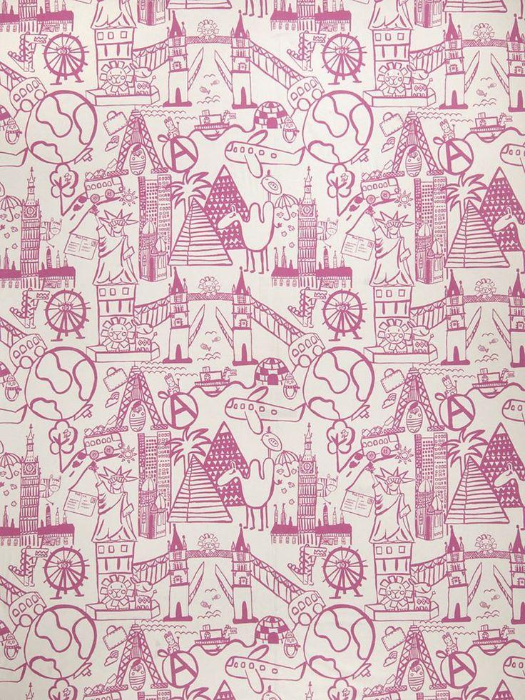 3113705 Sightseeing Toile Bubble Gum By Fabricut. Fabricut FabricsUpholstery  FabricsEaton SquareHome Decor ...