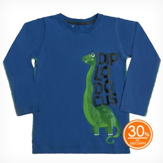 Remera Bordy Azul est. Diplodocus — Gimos