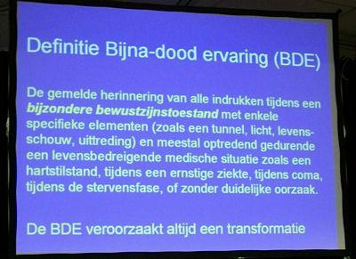 BDE: wetenschappelijk onderzoek naar Bijna-Dood Ervaringen.