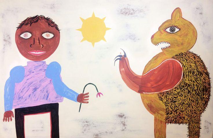 Michael Mitsas #outsiderart #art #artwork #painting #abstract