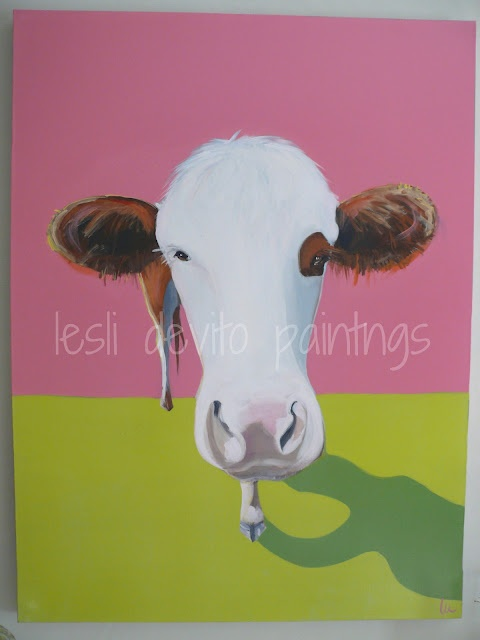MY Old Country House: lesli devito paintings - cow painting - a new LILLY: Amazing Art, Artists Spotlight, Abstract Art, Country Paintings, Leslie Devito, Devito Paintings, Cow Paintings, Old Country Houses, Animal