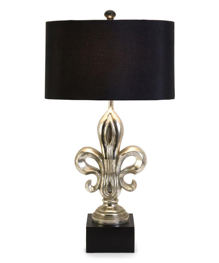 Silver Fleur De Lis Table Lamp By