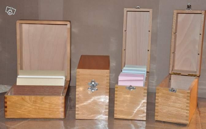 Boites de rangement en bois pour fiches bristol d coration for Leboncoin moselle ameublement