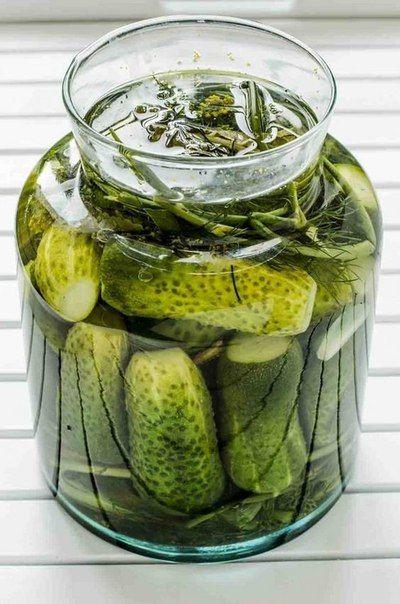 Ингредиенты: Огурцы — 5 кг Укроп — 7–10 веточек Чеснок — 1 головка Листья хрена — 10 шт. Душистый перец — 4 ч. л. Черный…