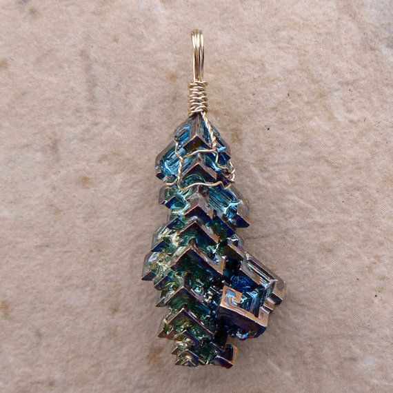 Escher's Waterfall  Bismuth Pendant by magpiesmiscellany on Etsy, $40.00