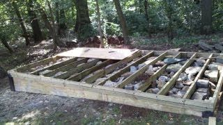 How to build a level shed, tiny houses, barn foundation, platform by Jon Peters - YouTube
