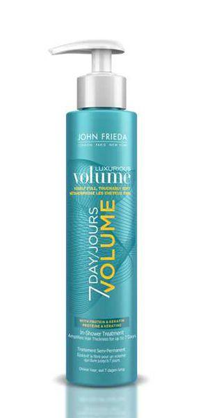 Смываемое средство для волос для создания объема длительного действия. Новый продукт для использования в душе Luxurious Volume 7 Day Volume In-Shower Treatment дает стойкий результат, оставляя волосы объемными на срок до 1 недели. Производитель гарантирует, что эффект сохранится даже если несколько раз помыть голову. Новое средство создано на базе инновационной технологии, стимулирующей процесс создания объема для волос уже в душе. Эффективно воздействует даже на тонкие и тусклые волос...