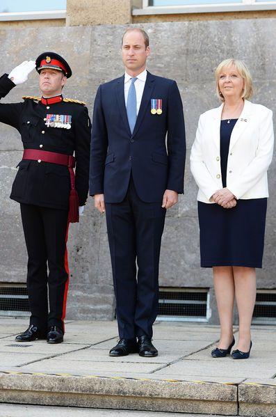 Le prince William avec Hannelore Kraft à Düsseldorf, le 23 août 2016