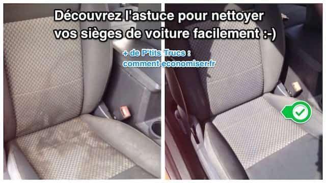 Les sièges sont les plus gros ramasse-poussières dans une voiture ! Heureusement, il existe un truc simple et pas cher pour retrouver des sièges flambants neufs. Tout ce dont vous avez besoin, c'est d'un peu de liquide vaisselle et de cristaux de soude. Regardez :-)  Découvrez l'astuce ici : http://www.comment-economiser.fr/comment-nettoyer-facilement-vos-sieges-de-voiture.html?utm_content=buffereba26&utm_medium=social&utm_source=pinterest.com&utm_campaign=buffer