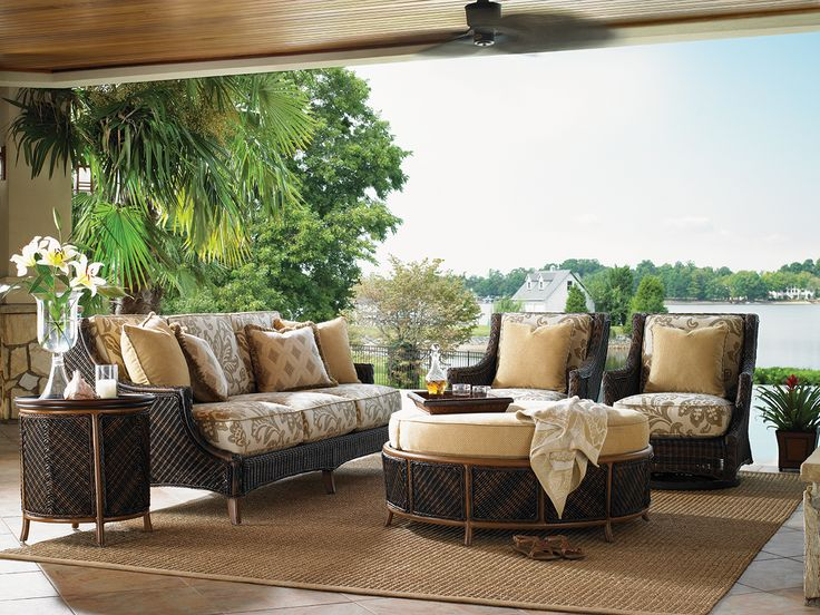 Tommy Bahama   Island Estate Lanai Collection. Wicker Sofa, End Table, Wing  Chairs