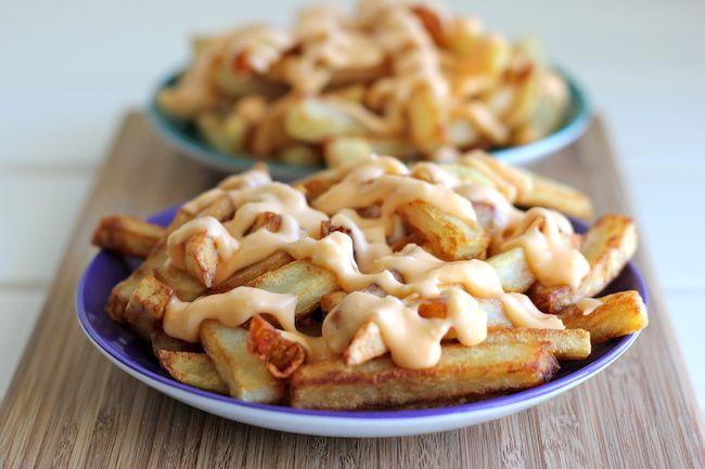 Garlic Cheese Fries - Damn Delicious