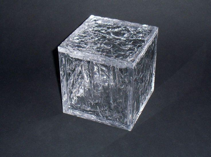 """SCATOLA IN PLEXIGLASS """"ghiaccio"""" per caramelle / gioielli cm. 12 x 12"""